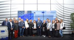 Representatives from Vukovar–Srijem Region on the study visit in Brussels