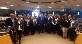 Representatives from Dubrovnik-Neretva Region and DUNEA on the study visit in Brussels