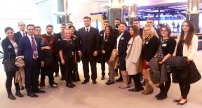 Young people from Dubrovnik Neretva County in Brussels